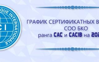 График сертификатных выставок СОО БКО ранга CAC и CACIB на 2020 год